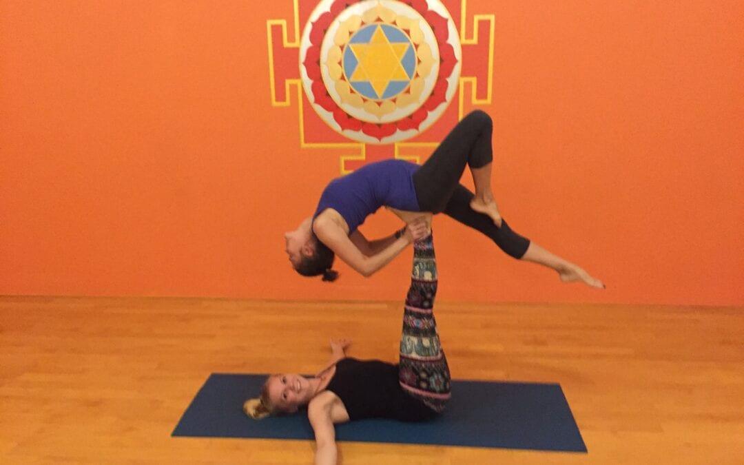 Acro Yoga, not your average yoga class