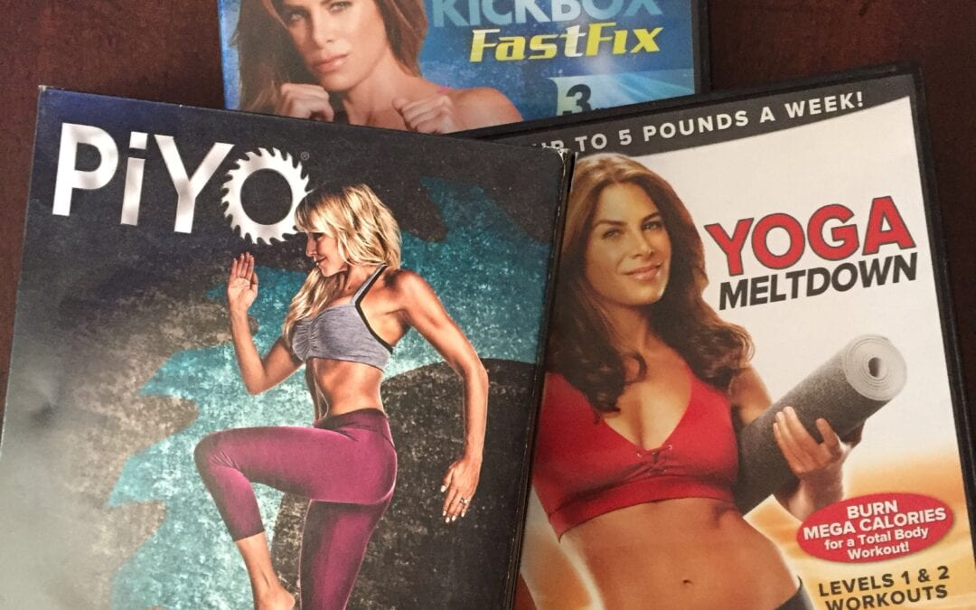 I work out….at home